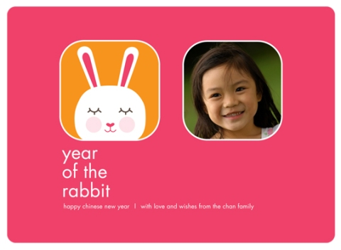 Chinese New Year: Year of the Rabbit Photo Card for Paper Culture