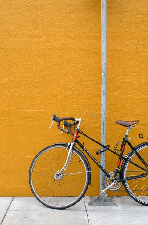 Bicycle on Mustard