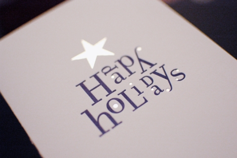 Happy Holidays Greeting Card: Letterpress and Foil