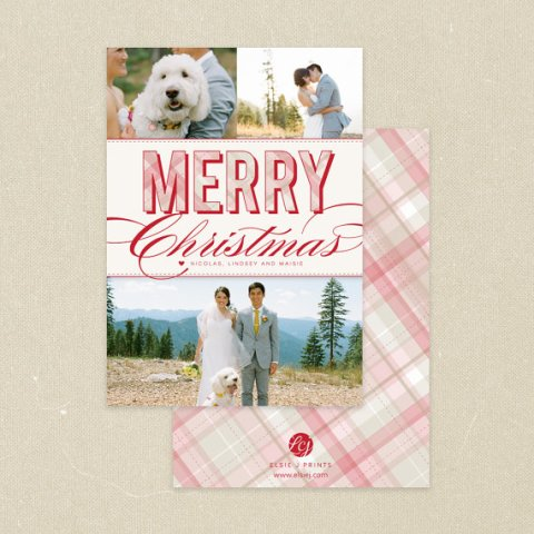 Plaid Holiday Card for Minted