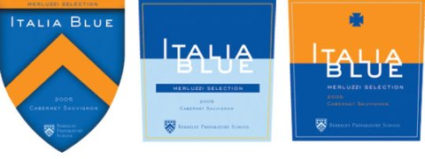 Italia Blue Wine Label Concepts