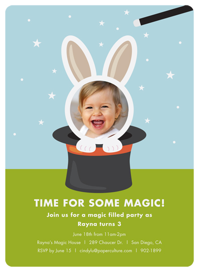 Magic Party Birthday Invitation for Paper Culture
