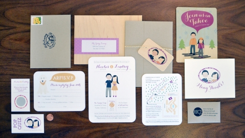 Wedding Invitation Suite for Elsie J