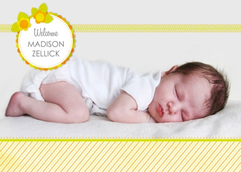 Simply Sunny Baby Birth Announcement for Mixbook